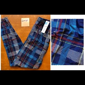 Plaid Large Agnes & Dora Leggings - New with tag